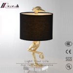 Guzhen New Modern metal resin crystal unique hand-made crane table lamp