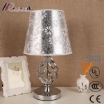 European Polished Sliver and Nickel Table Desk Lamp for Hotel