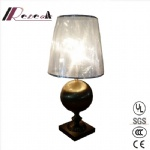 E27 Antique Copper Iron Round Table Lamp for Hospitality